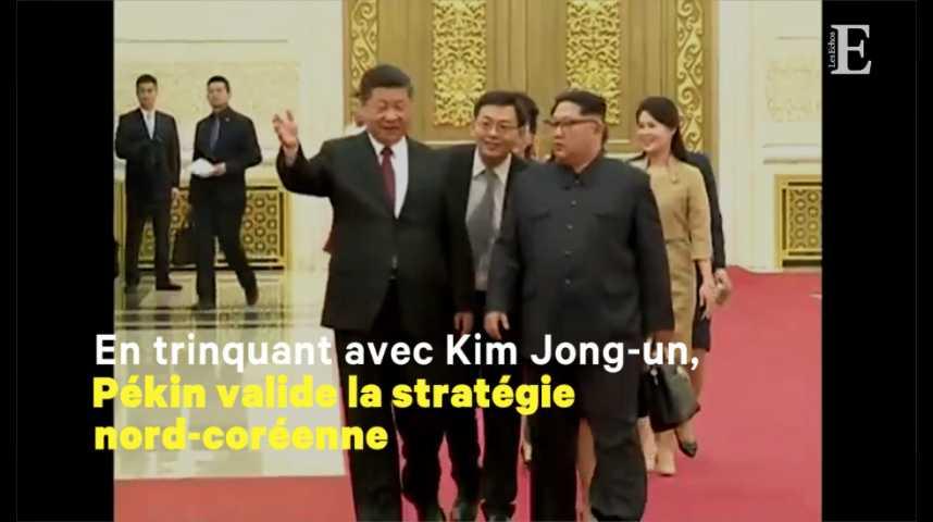 Illustration pour la vidéo Kim Jong-un et Xi Jinping, unis contre Trump