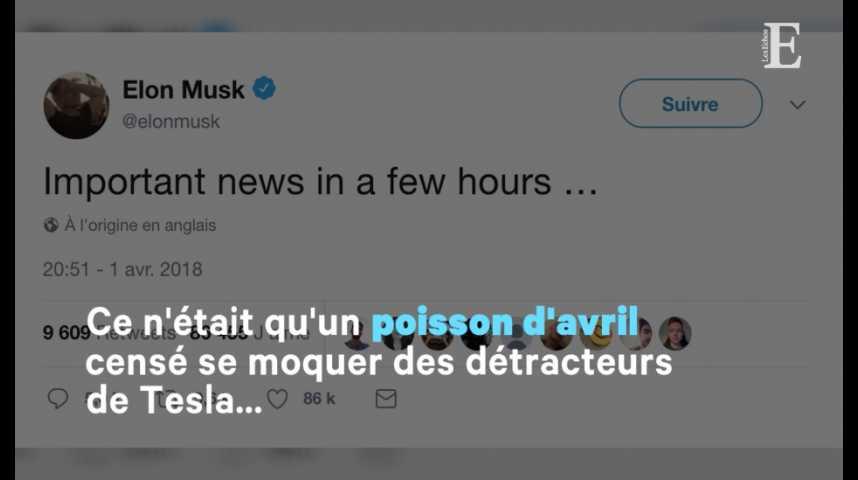 Illustration pour la vidéo Tesla : le poisson d'avril qui ne passe pas