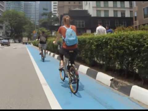 BLOG - On a rencontré l'artiste qui a créé une carte astucieuse des pistes cyclables de Kuala Lumpur