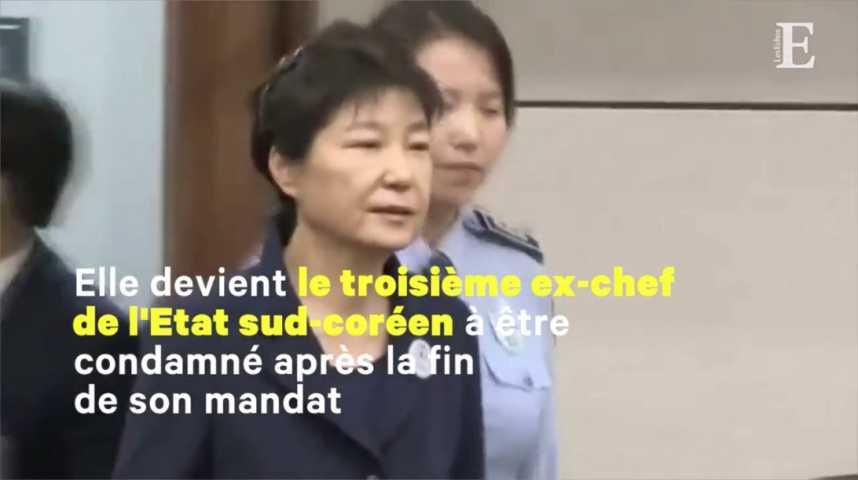 Illustration pour la vidéo L'ancienne présidente sud-coréenne condamnée à 24 ans de prison