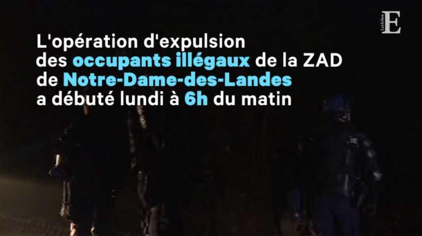 Illustration pour la vidéo Notre-Dame-des-Landes : l'opération d'expulsion est en cours