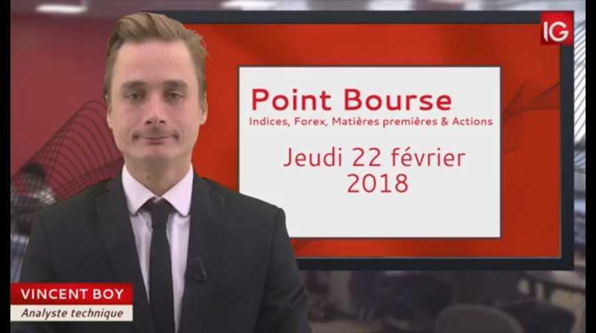Illustration pour la vidéo Point Bourse du jeudi 22 février 2018