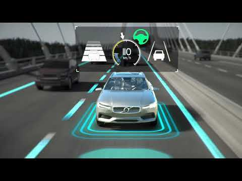 New Volvo V60 - adaptive cruise control with pilot assist - animation