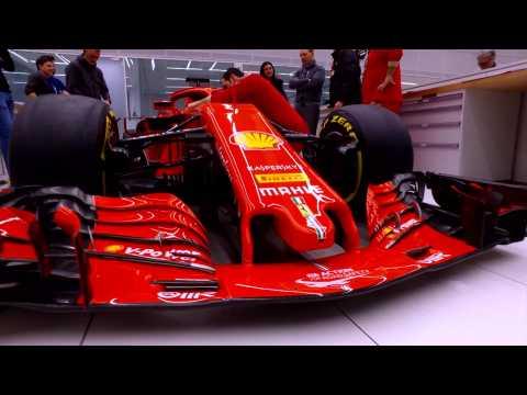 Presentation Ferrari SF71H Stickering for the new 2018 Formula 1 Season