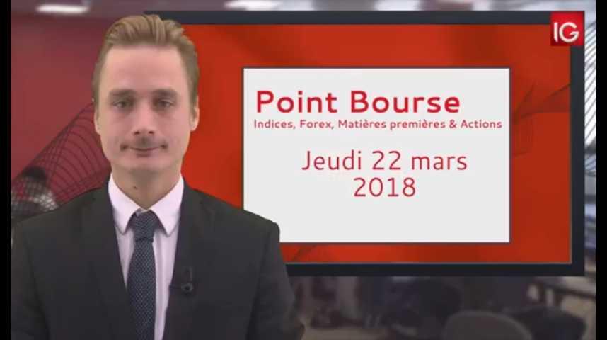 Illustration pour la vidéo Point Bourse IG du 22 03 2018