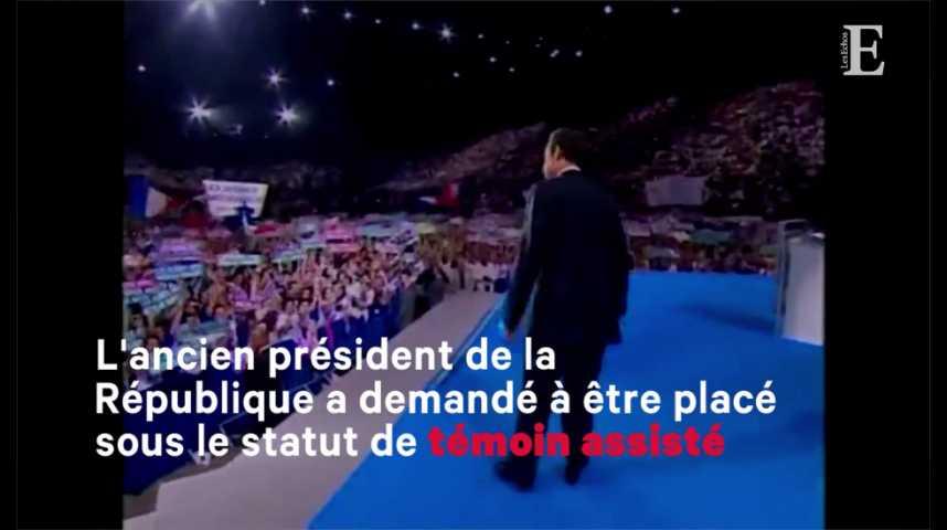 """Illustration pour la vidéo Mis en examen, Sarkozy dénonce """"mensonges"""" et """"calomnie"""""""