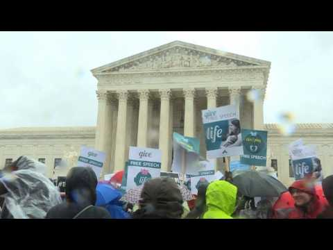 Pro-choice, pro-life groups rally outside Supreme Court