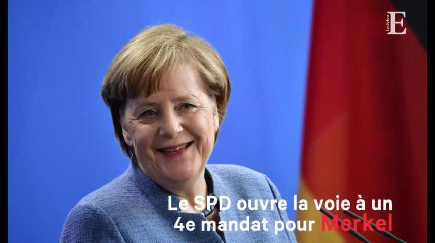Illustration pour la vidéo Le SPD ouvre la voie à un quatrième mandat pour Merkel