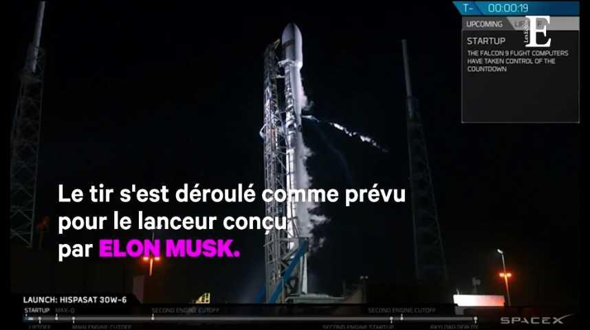 Illustration pour la vidéo 50e lancement réussi pour la Falcon 9 de SpaceX