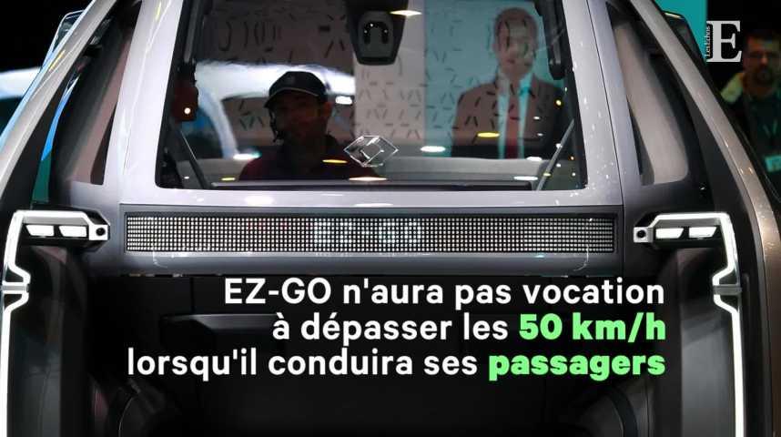 Illustration pour la vidéo Renault abat ses cartes et dévoile son robot-taxi
