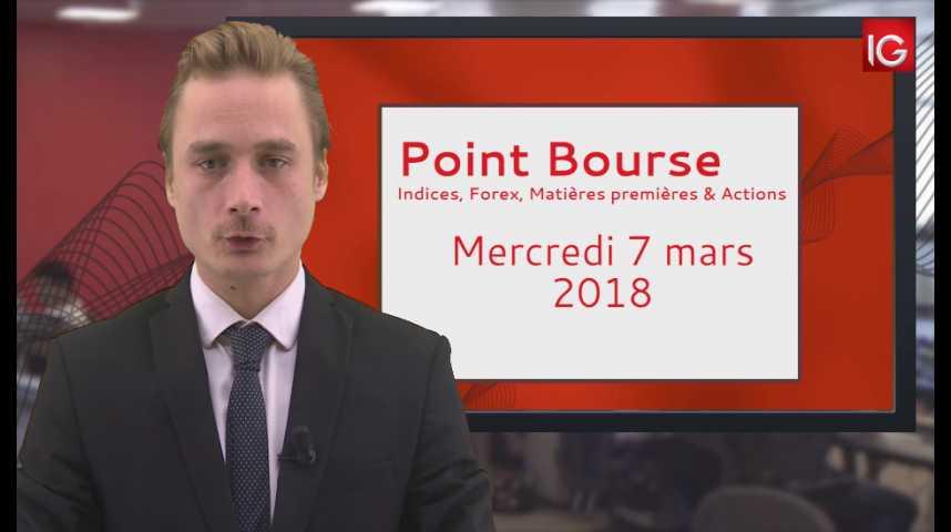 Illustration pour la vidéo Point Bourse IG du 07.03.2018