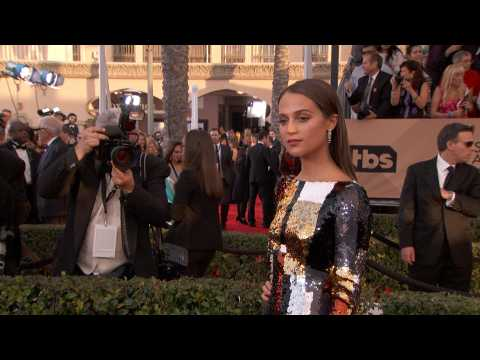 Alicia Vikander let her workout routine slide while doing press