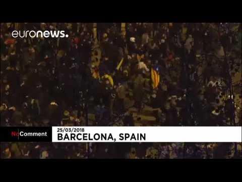 Police and demonstrators clashed in Barcelona after former Catalan leader Carles Puigdemont arrested