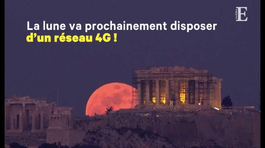Illustration pour la vidéo Bientôt de la 4G... sur la Lune !