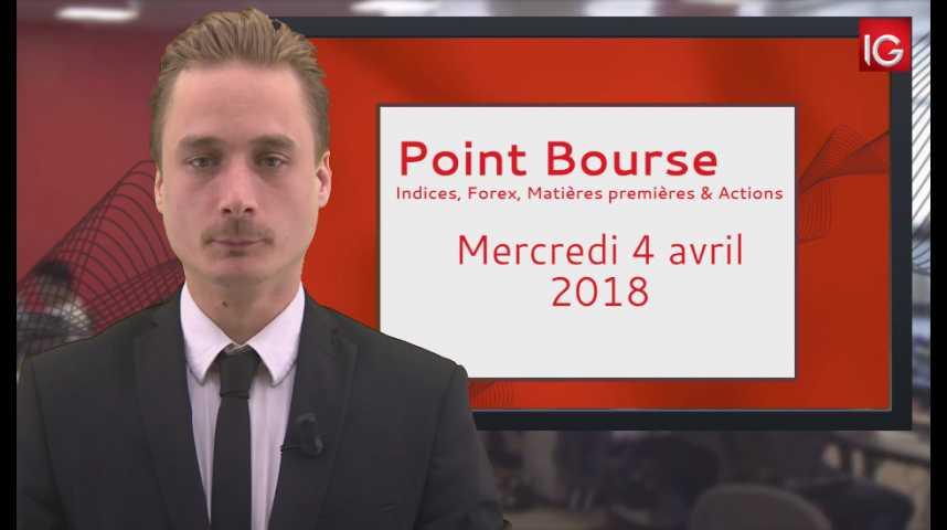 Illustration pour la vidéo Point Bourse IG du 04.04.2018