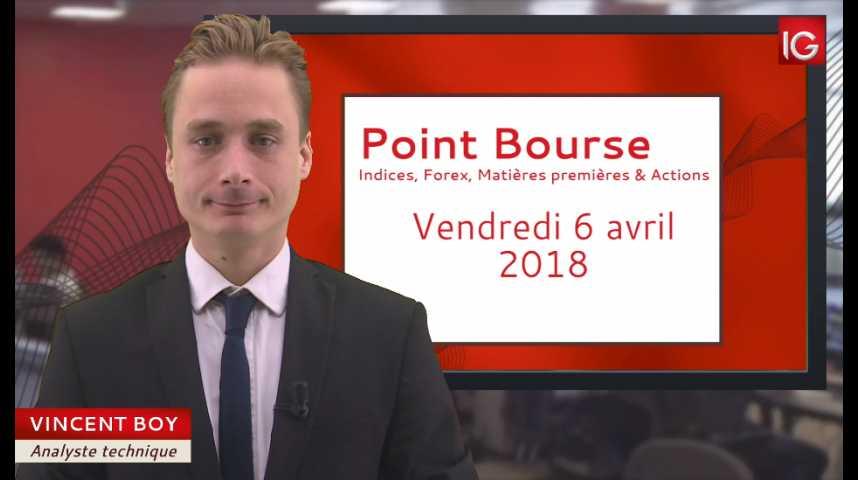 Illustration pour la vidéo Point Bourse du vendredi 6 avril 2018