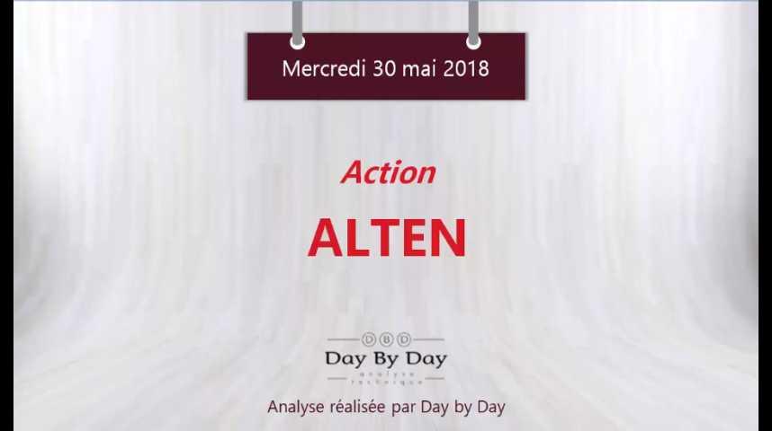 Illustration pour la vidéo Action Alten : le titre évolue sur de nouveaux plus hauts - Flash Analyses IG 30.05.2018