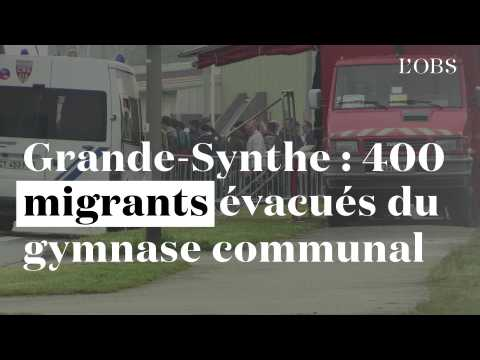 Grande-Synthe : 400 migrants évacués du gymnase communal