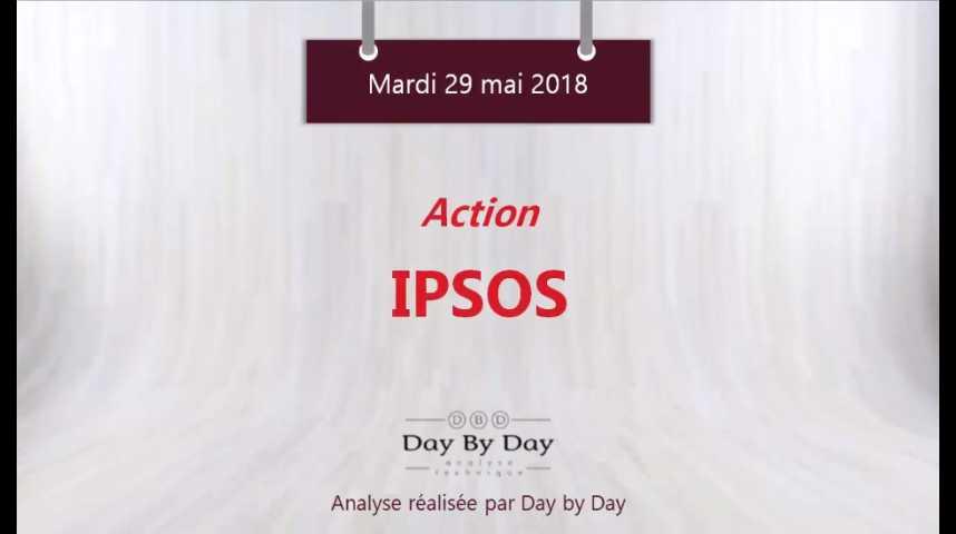 Illustration pour la vidéo Action Ipsos : la tendance est baissière sous les 30€ - Flash analyse IG 29.05.2018