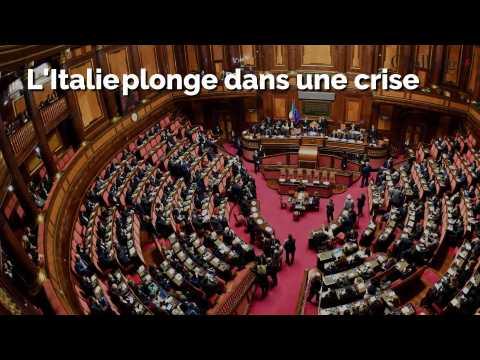 L'Italie bascule dans une nouvelle crise politique après le retrait de Giuseppe Conte