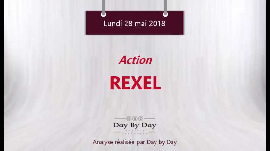 Illustration pour la vidéo Action Rexel - la tendance reste baissiere - Flash Analyse IG 28.05.2018