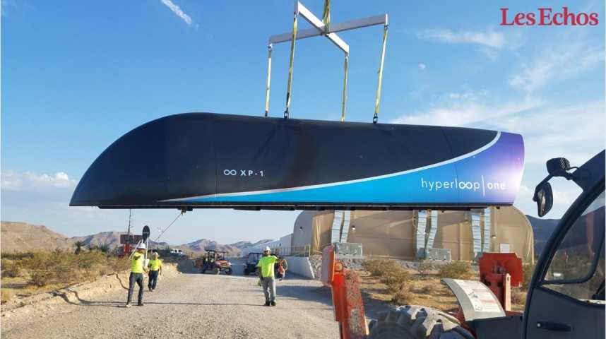 Illustration pour la vidéo Hyperloop One annonce avoir réussi son 1er test grandeur nature dans le Nevada