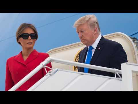Donald Trump et sa femme Melania sont arrivés à Paris