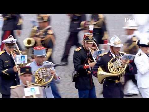 """L'incroyable """"Get Lucky"""" des Daft Punk joué par la fanfare pour le 14-Juillet"""