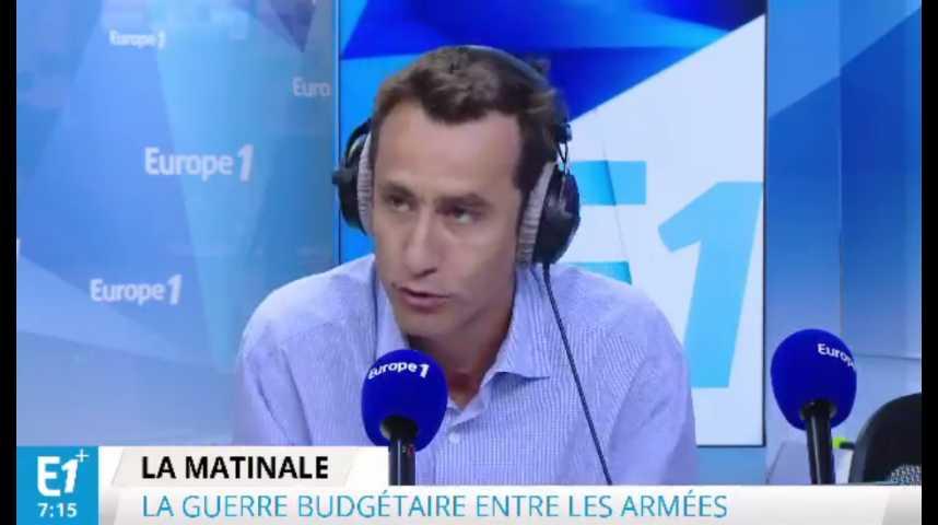 Illustration pour la vidéo Armée française : « Les militaires ne croient plus aux belles trajectoires budgétaires »