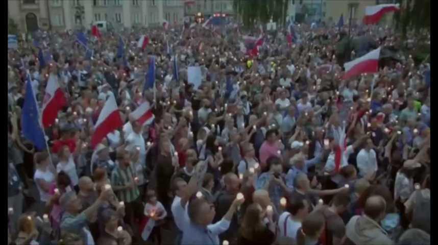 Illustration pour la vidéo Pologne : nouvelles manifestations contre la réforme de la justice