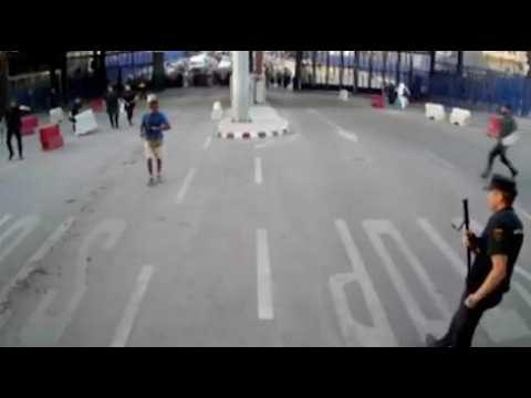 Espagne : les images de l'attaque au couteau à Melilla