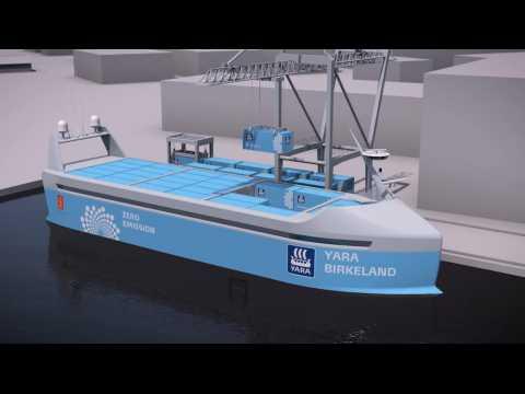 Le premier porte-conteneurs 100% autonome et électrique bientôt en service