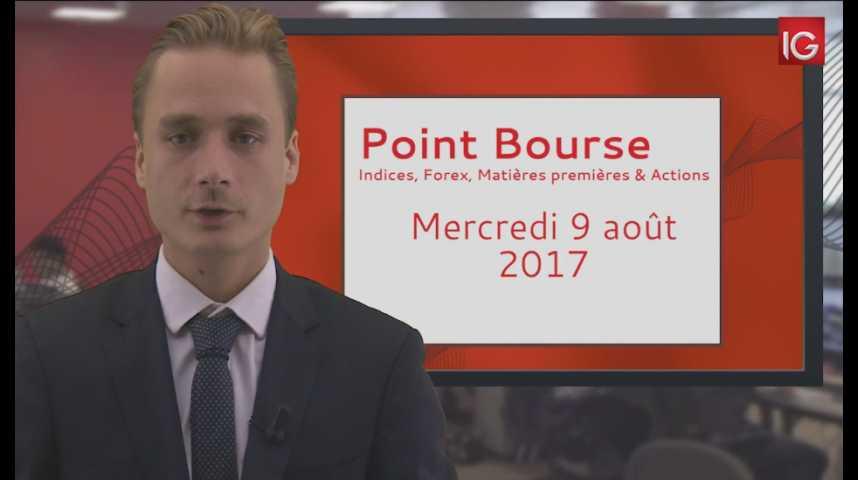 Illustration pour la vidéo Point Bourse du mercredi 9 août 2017