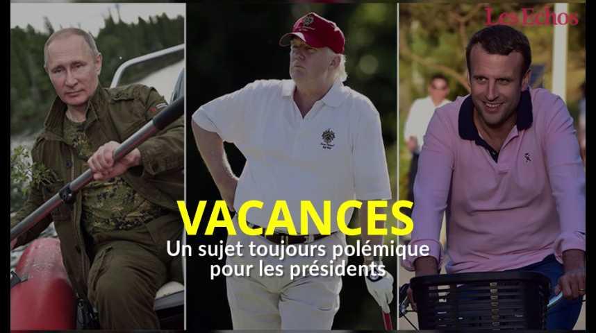 Illustration pour la vidéo Les vacances des présidents, un sujet toujours polémique