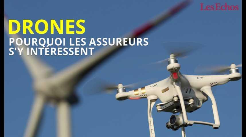 Illustration pour la vidéo Pourquoi les assureurs s'intéressent aux drones