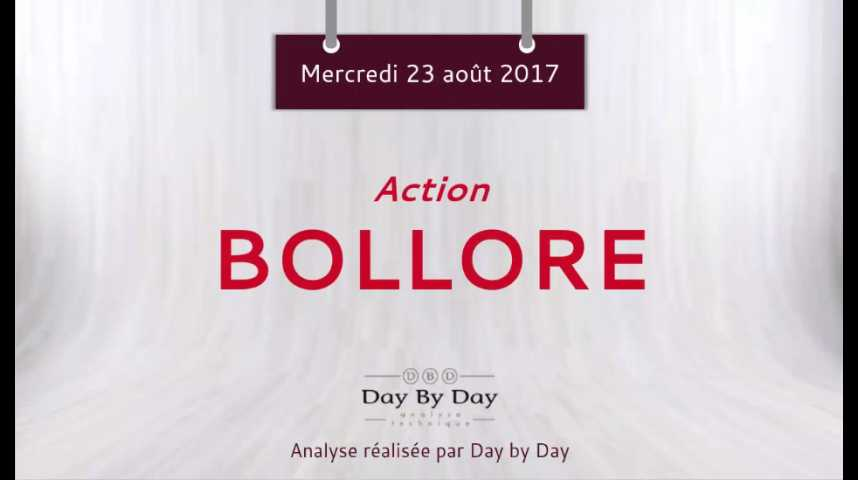 Illustration pour la vidéo Action Bollore - poursuite de la baisse - Flash analyse IG 23.08.2017