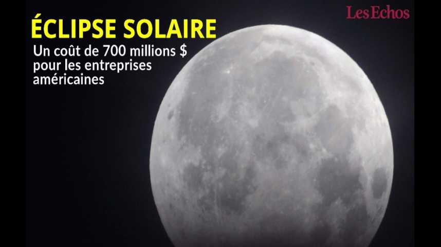 Illustration pour la vidéo L'éclipse solaire pourrait coûter 700 millions de dollars aux entreprises américaines
