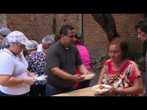 Desperate Venezuelans turn to soup kitchen in Colombia