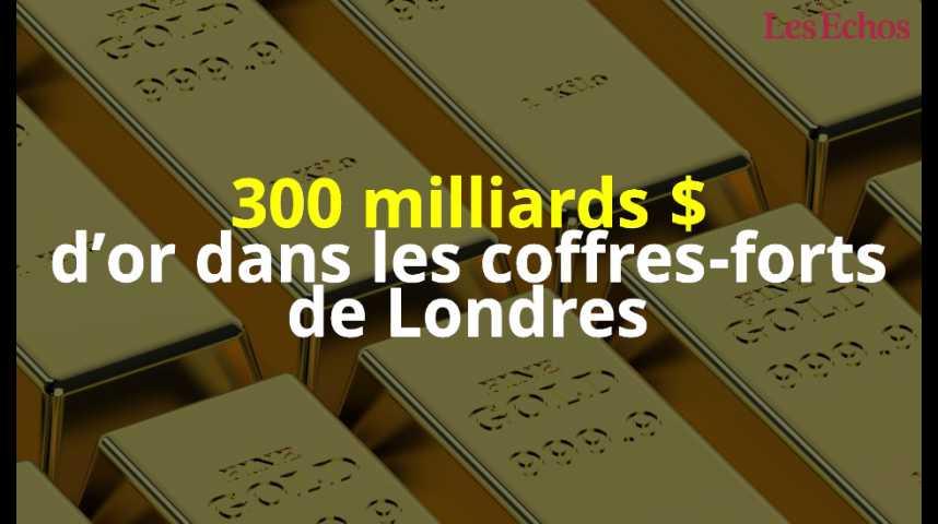 Illustration pour la vidéo 300 milliards de dollars d'or dans les coffres-forts de Londres