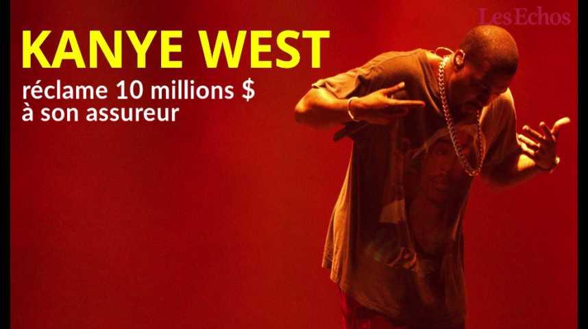 Illustration pour la vidéo Kanye West réclame 10 millions de dollars à son assureur