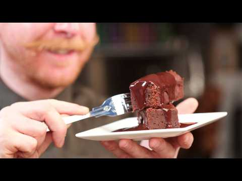 Paul A. Young's salted chocolate fudge brownie recipe