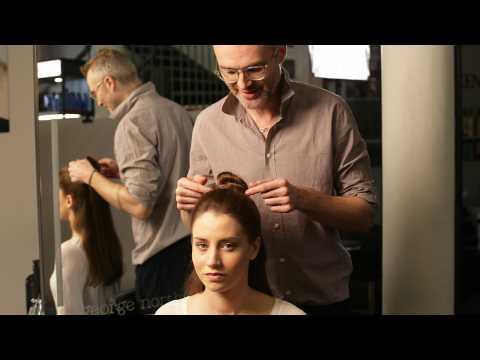 George Northwood's 60 second half bun hairstyle