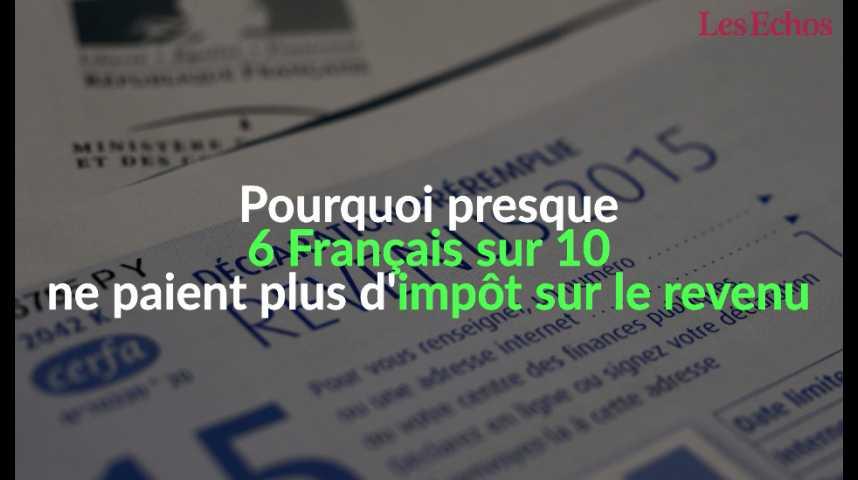 Illustration pour la vidéo Pourquoi près de 6 Français sur 10 ne paient plus d'impôt sur le revenu