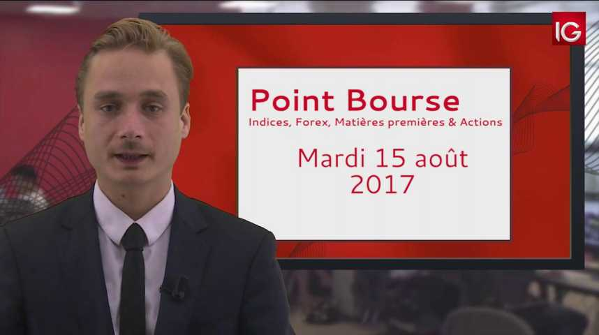 Illustration pour la vidéo Point Bourse du mardi 15 août 2017
