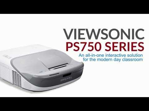 ViewSonic PS750 Series Projector: How to Install an All-in-One Interactive Projector