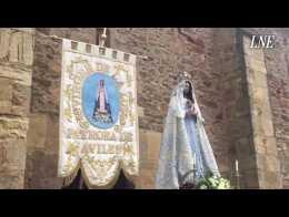 Decenas de fieles y peregrinos acuden a la ermita de La Luz para honrar a la patrona de Avilés