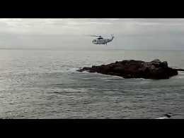 Una de las últimas prácticas del 'Helimer 209' en A Coruña