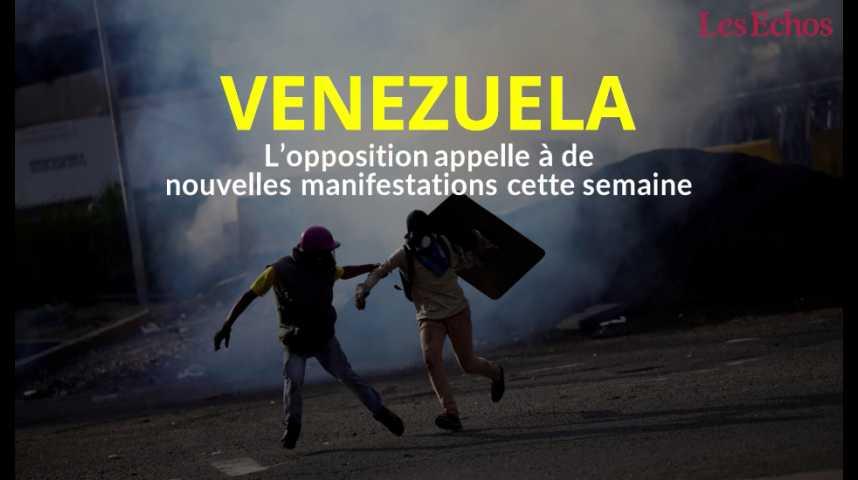 Illustration pour la vidéo Venezuela : l'opposition appelle à de nouvelles manifestations cette semaine