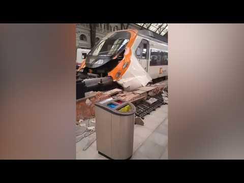 Barcelone : un accident de train à la gare de France fait de nombreux blessés