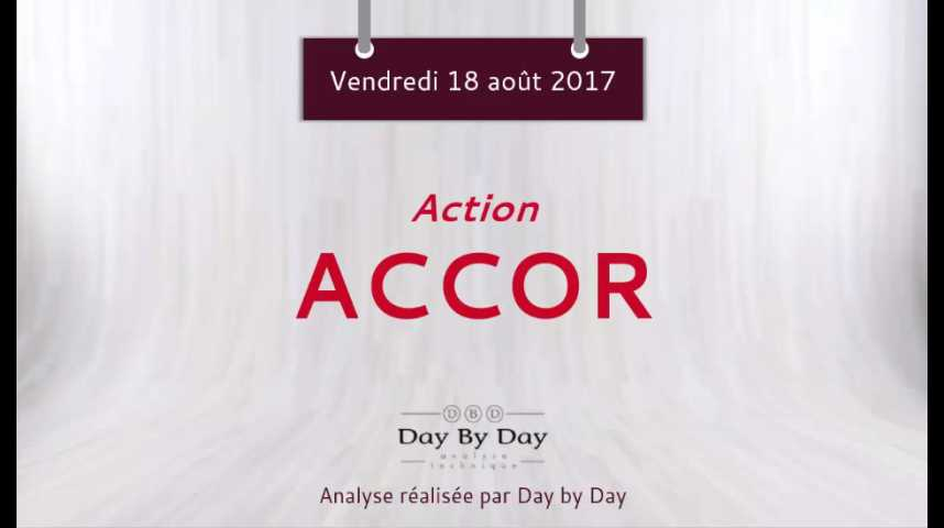 Illustration pour la vidéo Action Accor - la baisse se poursuit - Flash analyse IG 18.08.2017